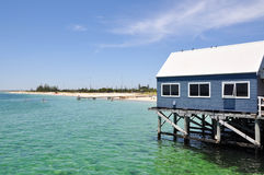 Busselton Jetty Souvenir Shop in the Indian Ocean Stock Photos