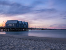 Busselton Jetty at sunset, Western Australia Stock Photos