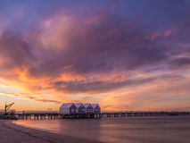 Busselton Jetty at sunset, Western Australia Stock Images