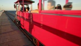Busselton Jetty Train stock footage