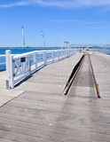 Busselton Jetty: Train Tracks Royalty Free Stock Images