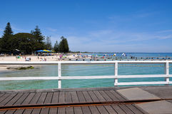 Busselton Jetty View: Beach Recreation stock images