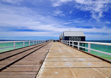 Busselton Jetty, Western Australia. Wooden Jetty With Blue sky Stock Photography