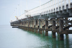 Busselton Jetty Western Australia. Historic Busselton Jetty in Western Australia, longest timber pier in the Southern Hemisphere, peaceful Indian Ocean royalty free stock image