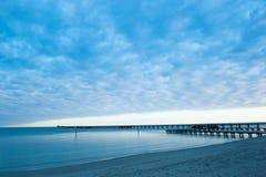 Busselton Jetty wschodu słońca ocean zdjęcia stock