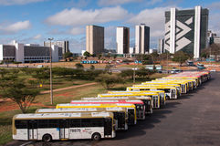 Bussen in Brasilia royalty-vrije stock afbeelding