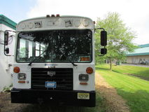 """Bussen för plattformen för den New York NY jättefestivalen med till salu undertecknar in norr Brunswick, NJ, USA Ð """", Arkivbild"""
