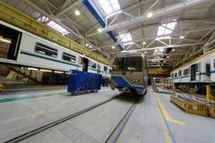 Bussen in het assembleren van winkelvloer Royalty-vrije Stock Foto