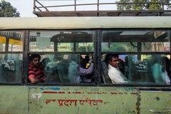 Bussen i Indien Arkivbild