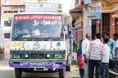 Bussen i Indien Royaltyfria Bilder