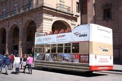 bussen mexico turnerar arkivbild