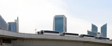 Bussen op het viaductasti busstation in Ankara, Turkije royalty-vrije stock foto