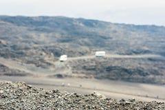 Bussen op Onderstel Etna, actieve vulkaan op de oostkust van Sicilië, Italië stock foto