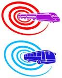 bussen planlägger logostången Royaltyfri Fotografi