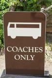 Bussen slechts teken royalty-vrije stock foto's