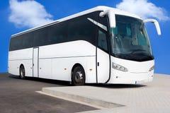 bussen turnerar white Arkivbild