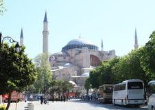 Bussen voor Hagia Sofia in Istanboel royalty-vrije stock foto
