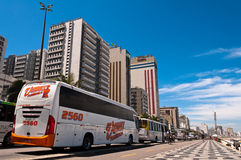 Busses in the Street in Ipanema Stock Images