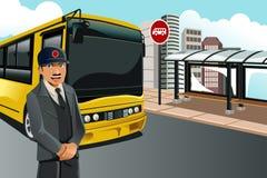 Bussförare royaltyfri illustrationer
