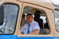 Bussförare arkivfoto