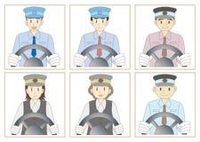 Bussförareuppsättning stock illustrationer