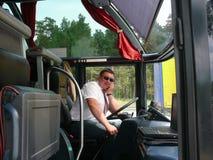 bussförare Fotografering för Bildbyråer