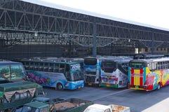Bussgarage Arkivbild
