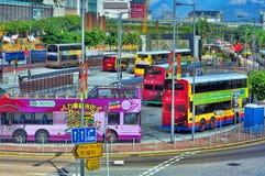 bussHong Kong station Royaltyfri Fotografi