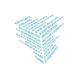 Bussines信息多维数据集 免版税图库摄影