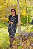 bussines公园妇女 免版税图库摄影