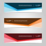 Modern Banner template design creative with abstract background stock photo