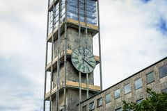 Clock tower. A bussines Clock tower whit blue sky Royalty Free Stock Photography