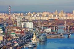 Bussines de Kiev e cidade da indústria Foto de Stock Royalty Free