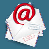 Bussines envelope. As a icone of email correspondence Royalty Free Stock Photography