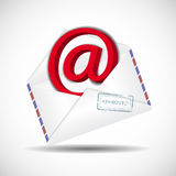 Bussines envelope. As a icone of email correspondence Stock Photography