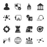 Bussines, finance 16 icons universal set for web and mobile. Flat Royalty Free Illustration