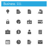 Bussines gray flat icons Stock Photography