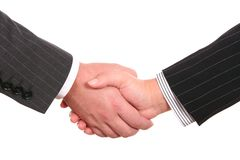 Bussines handshake Stock Photography