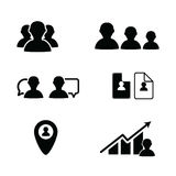 Bussines icon people in black color illustration. On white Stock Images