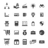Bussines icon set. On gray color Royalty Free Stock Photo
