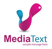 Bussines Logo. Media concept logo symbol illustration Stock Photography