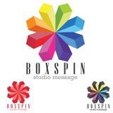 Bussines Logo. Concept logo symbol,colorful 3D cubes illustration Royalty Free Stock Image