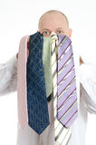 Bussines man choosing ties Stock Images