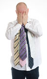 Bussines man choosing ties Royalty Free Stock Photo