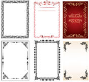 Frames set and page decors vector Royalty Free Stock Image