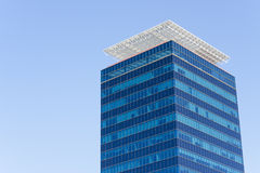 Bussines tower 2. A bussines tower on blue sky Stock Photography