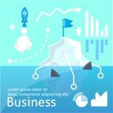 Bussines vectoor例证, infographic的startap 免版税图库摄影