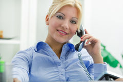 Bussines woman in office Stock Image