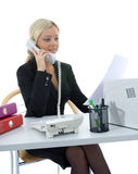 Bussines woman  working Royalty Free Stock Images