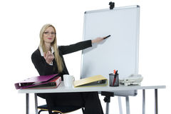 Bussines woman  working Stock Images